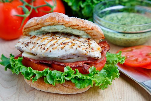 Grilled Chicken Club Sandwich with Pesto Mayo 500 5958