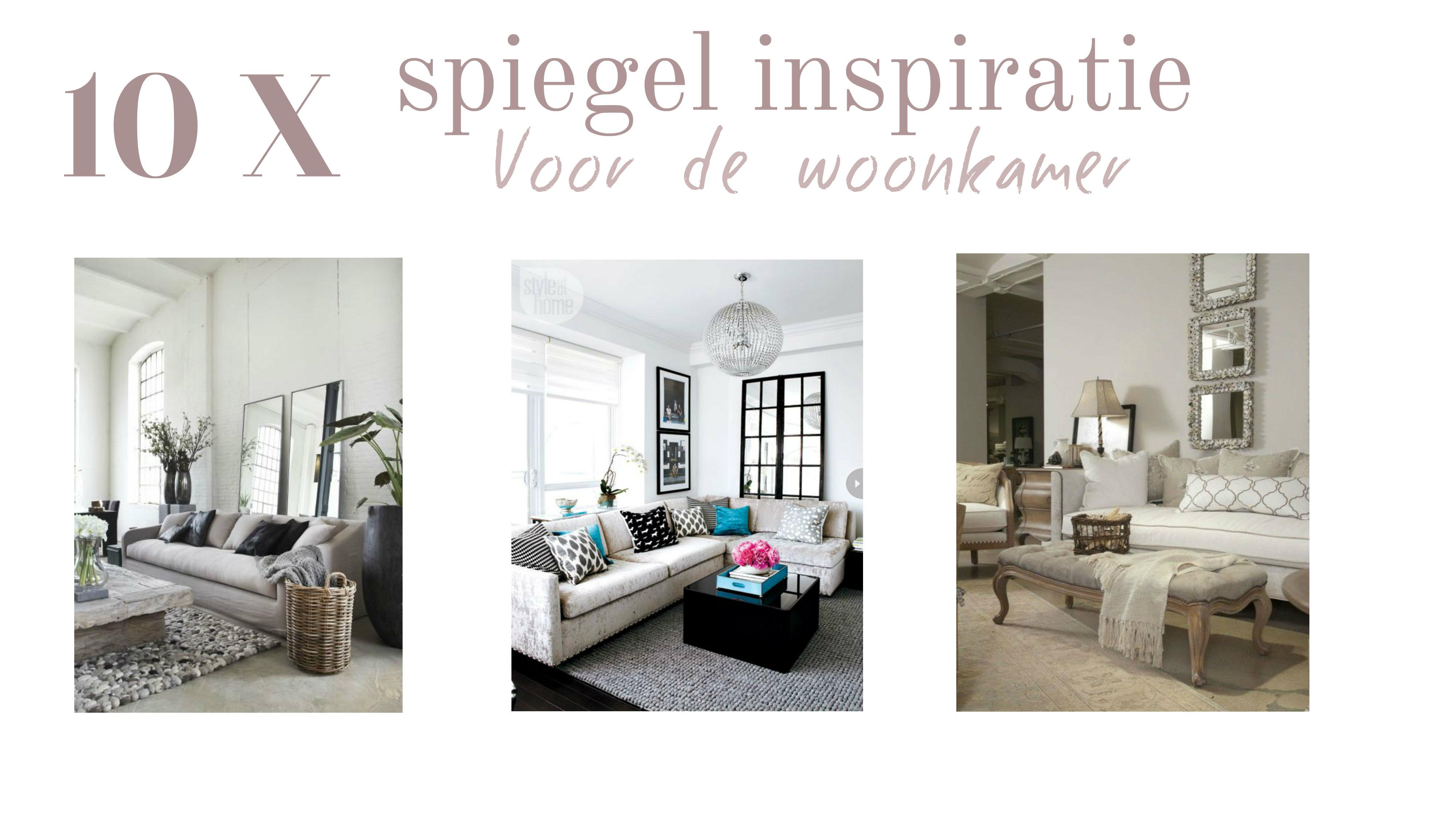 Interieur design 10 x spiegel inspiratie tasty nilou 39 s - Designer woonkamer spiegel ...